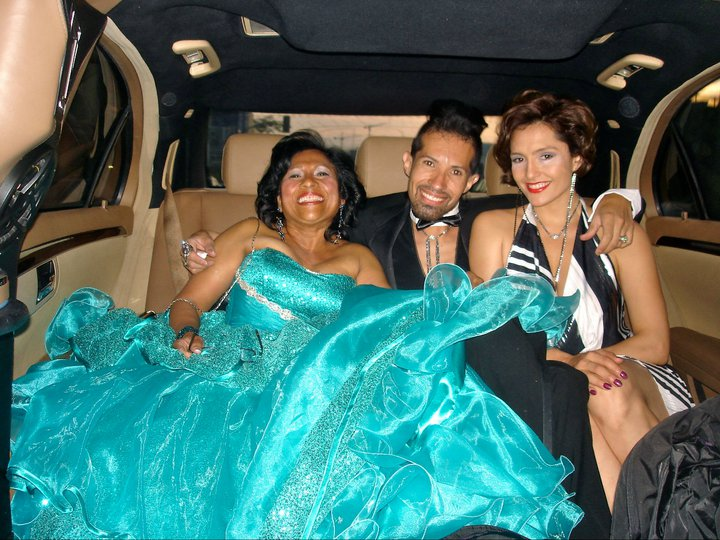 My birthday bash in limo with friends